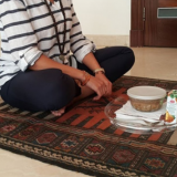 Eating on the floor