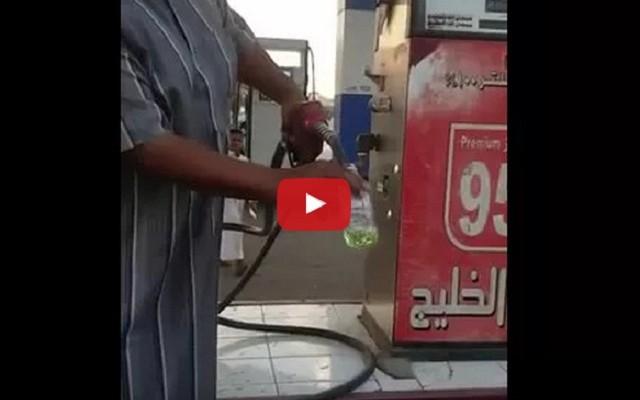 فيديو: محطة وقود تبدل نوعية البنزين!