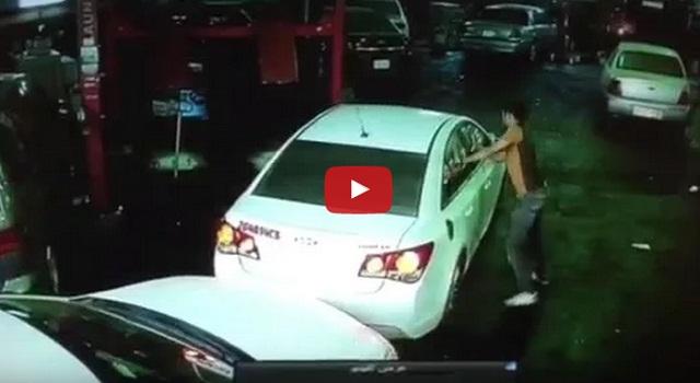 فيديو سارق سيارة