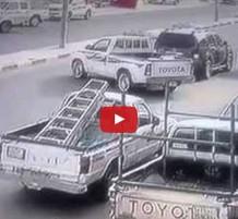 فيديو حادث هايلكس