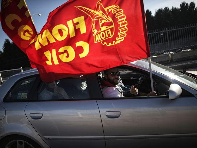احتجاج عمال مصنع