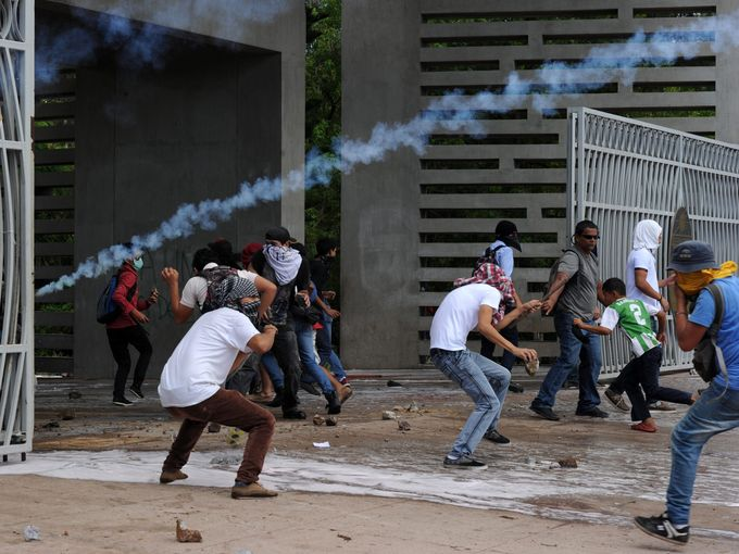 احتجاج في هندوراس