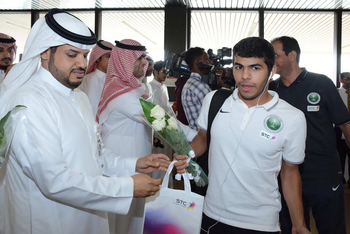 استقبال المنتخب السعودي لكرة القدم