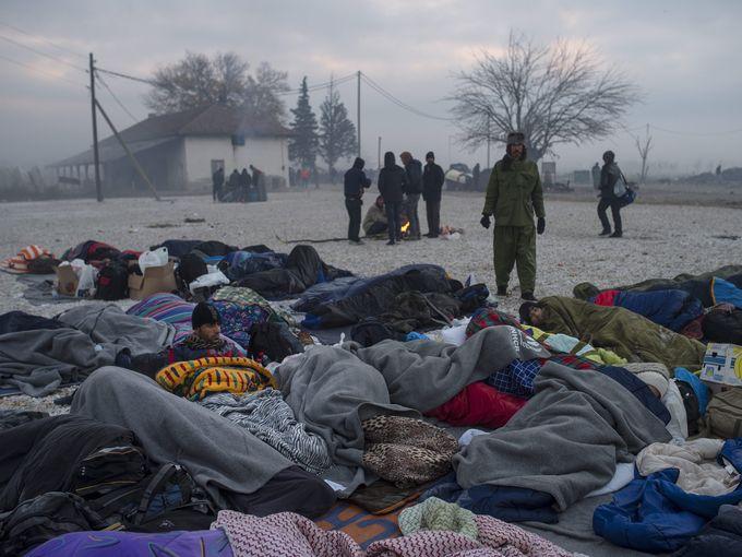 لاجئين بمقدونيا