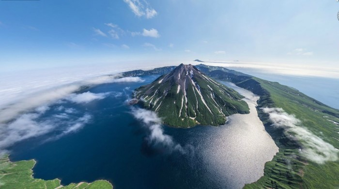 الطبيعة من جزر الكوريل