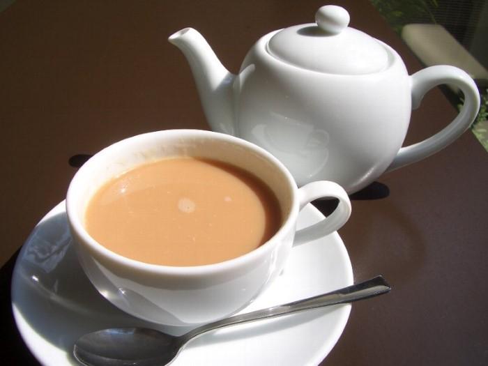 شاي الحليب