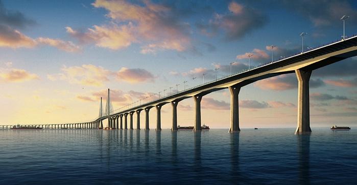 جسر هونج كونج وتشوهاي وماكاو