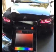تغيير إضاءة السيارة من الجوال