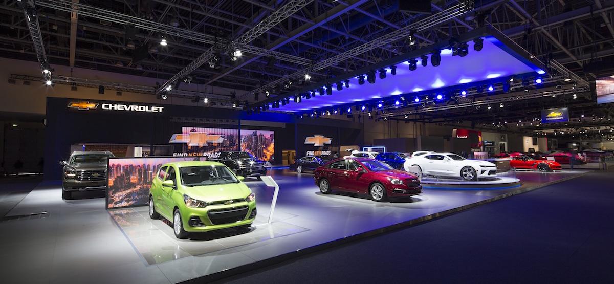 شفروليه تتألق في معرض دبي الدولي للسيارات 2015