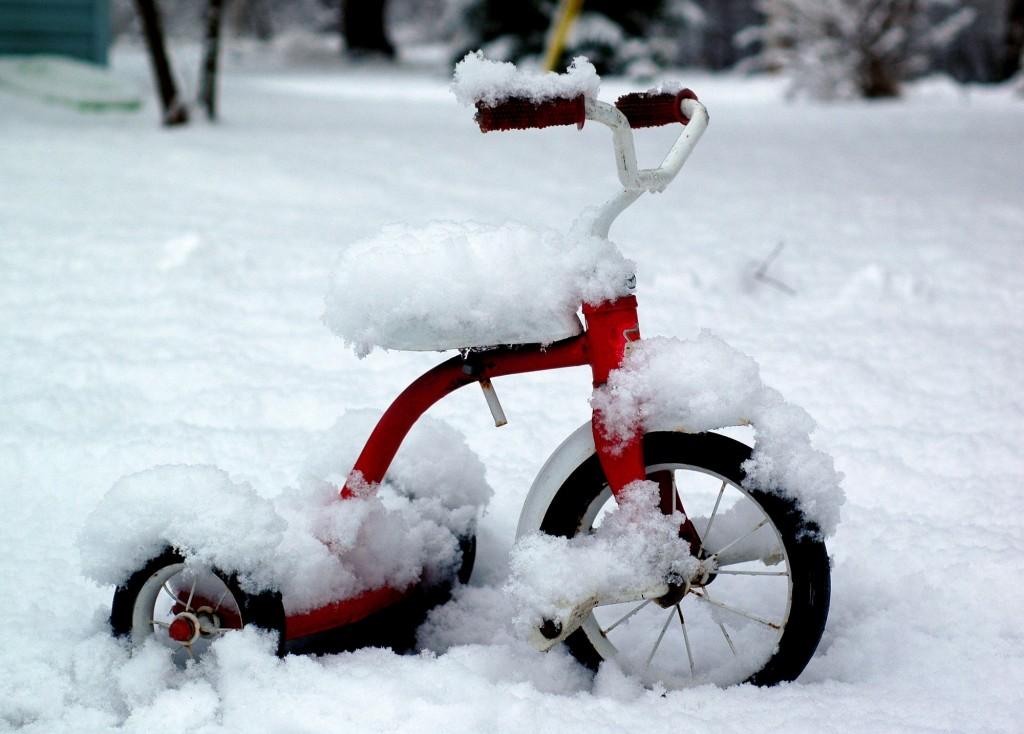 دراجة متجمدة