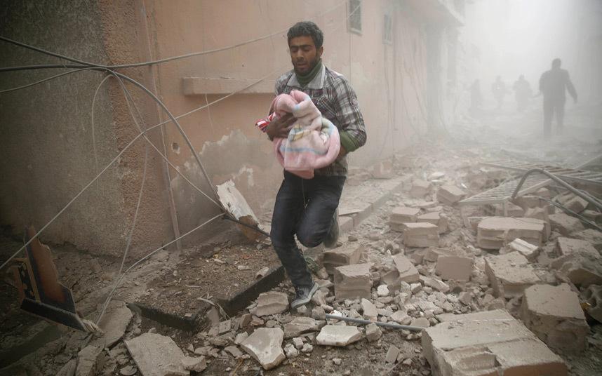 قصف في دوما