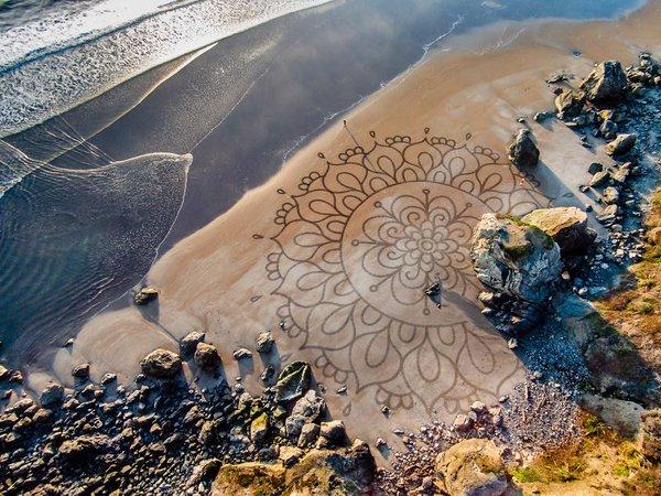 لوحات على الشاطئ