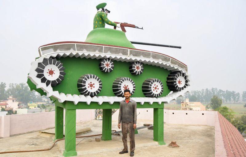 تزيين خزانات المياه في الهند