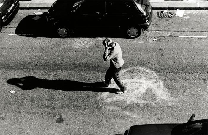 رجل في الشارع