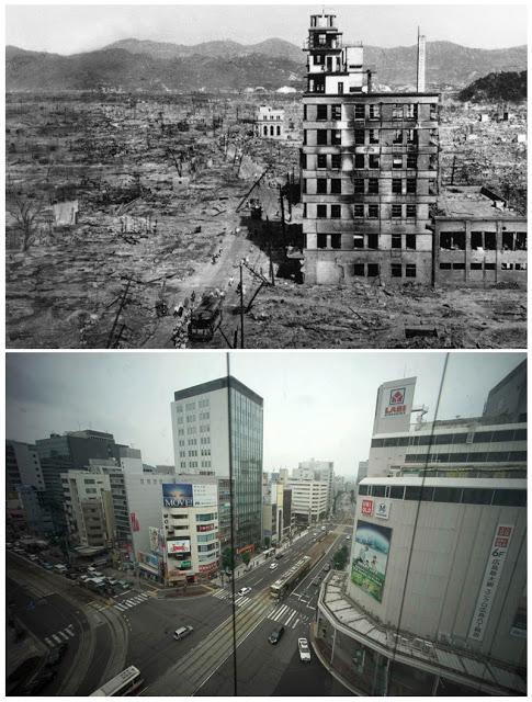 كيف اصبحت هيروشيما وناجازاكي اليوم بعد قصفها بالقنبلة النووية