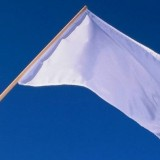 Soldiers Wave White Flags