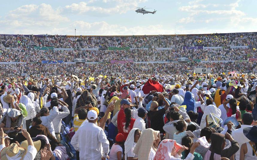 استقبال البابا