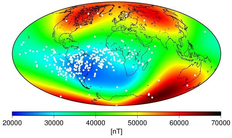 الشذوذ المغناطيسي جنوب الأطلسي