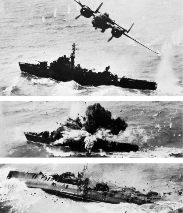 تدمير سفينة يابانية