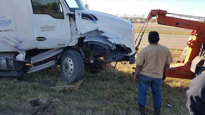 حادث لشاحنة
