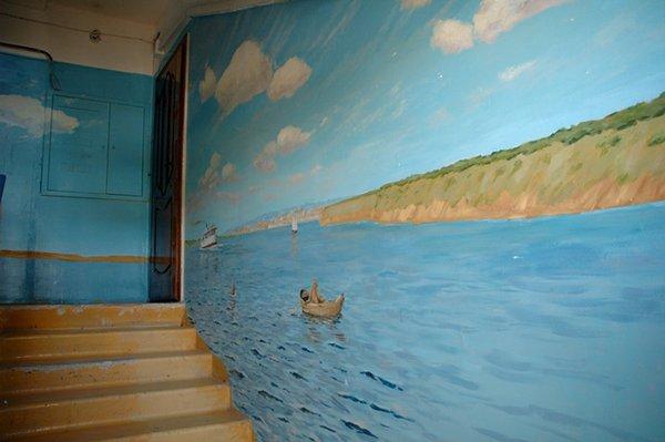 رسومات على جدران