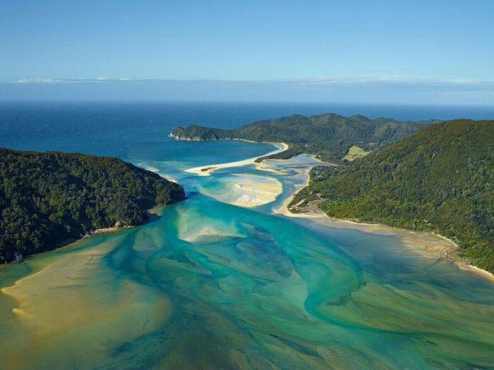 شاطئ في نيوزيلندا