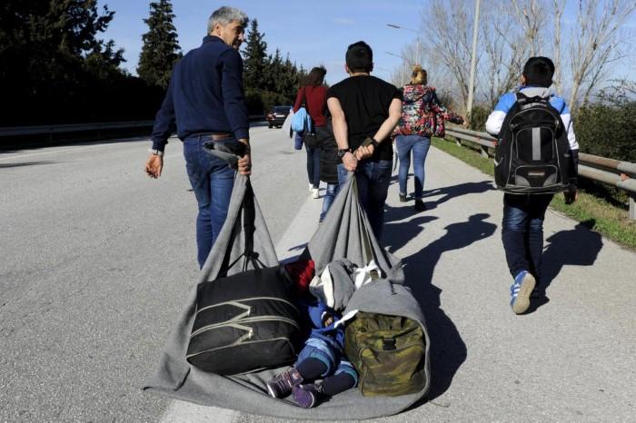 مهاجرون في اليونان
