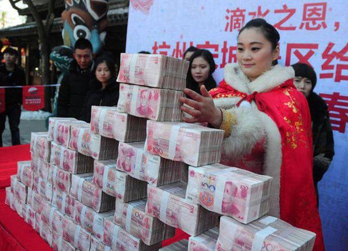 سياح محظوظين في الصين