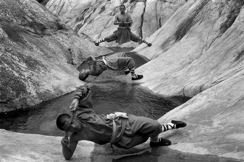 تدريبات الكونغ فو لرهبان الشاولين