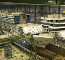 Cruise Ship Is Put Together
