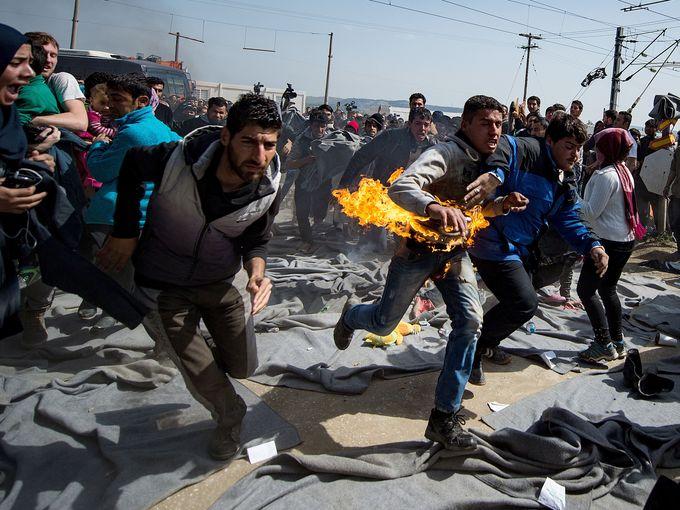 احتجاج مهاجرين