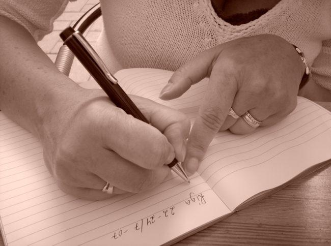 كتابة يوميات