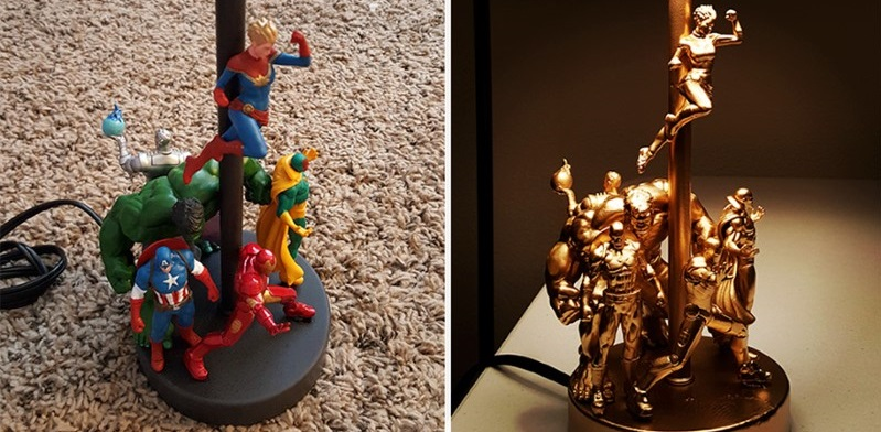 Lamp Made From Cheap Action Figures