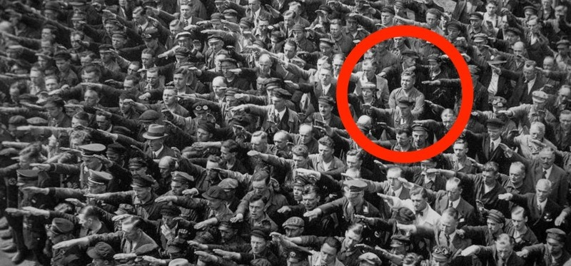 refused to give Hitler the Nazi salute