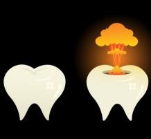 teeth explosion