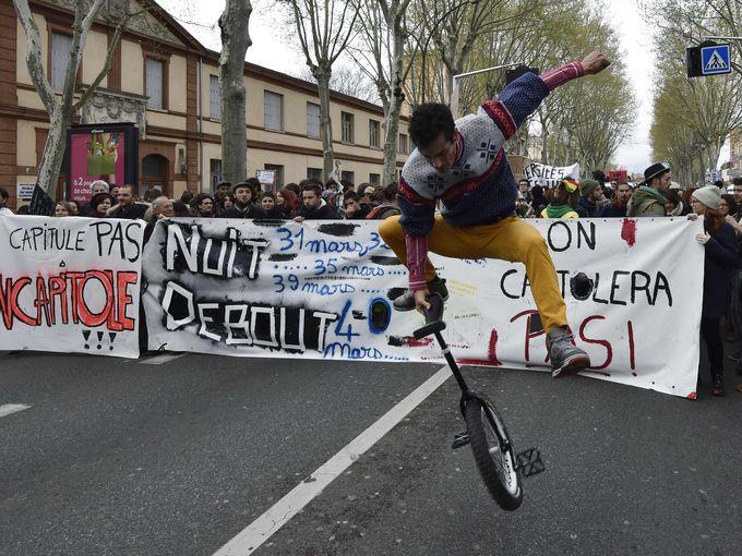 متظاهر فرنسي