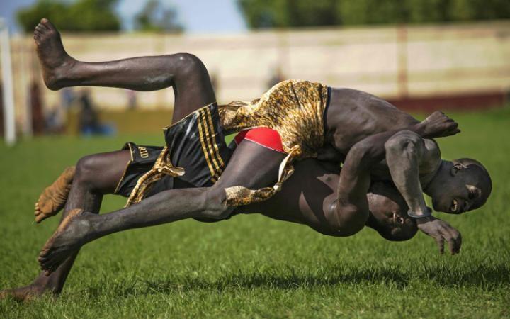 مصارعة في جنوب السودان