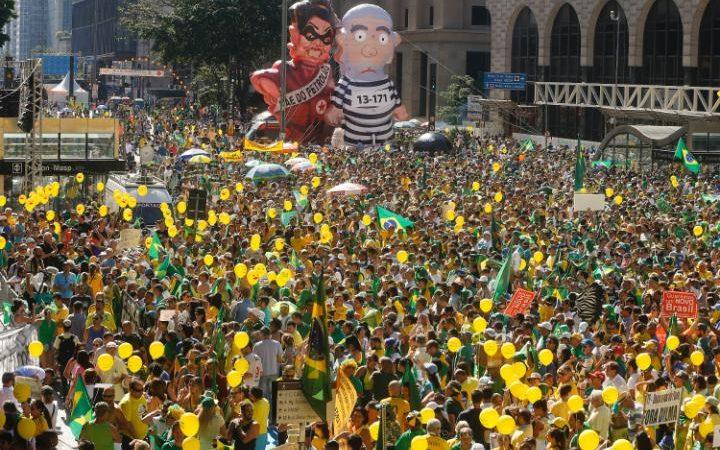 مظاهرة ضد الرئيسة البرازيلية