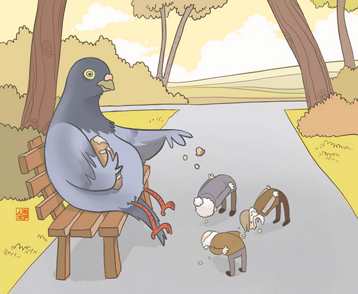 العالم المعكوس البشر والحيوانات