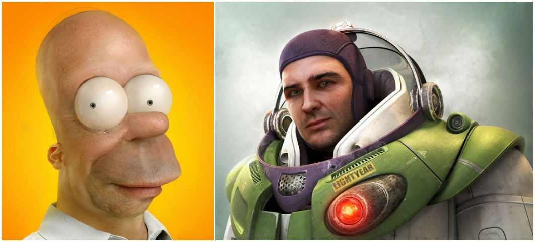 Real Life Cartoon Characters