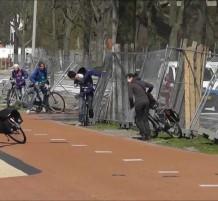 قوة الهواء تدفع الدراجات