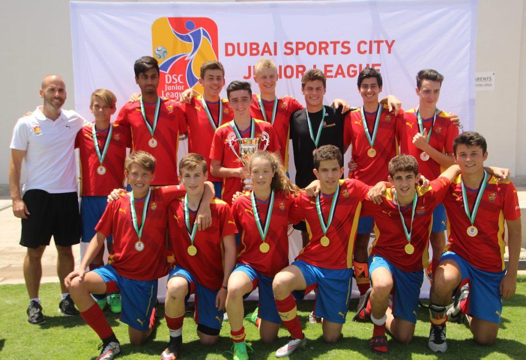 فريق أكاديمية مدارس كرة القدم الإسبانية يخطف لقب دوري الصغار