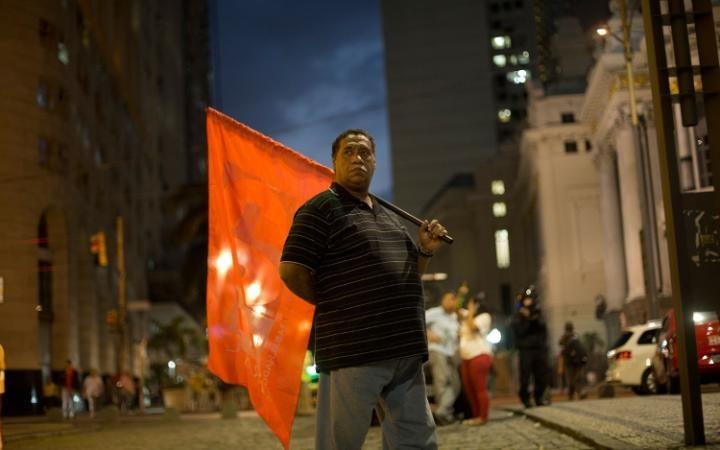 مظاهرة مناصرة للرئيسة البرازيلية