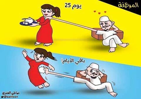 كاريكاتير أجواء العائلة