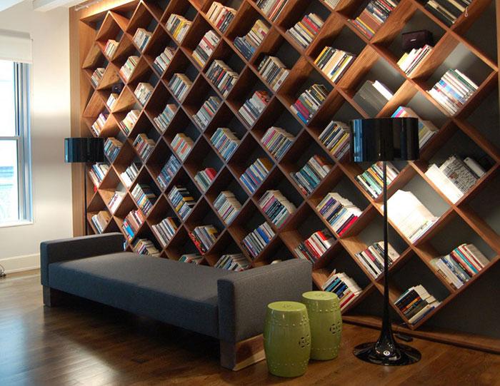 أجمل تصاميم رفوف الكتب