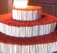 Cake Made of Matches