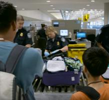 التخلص من الأطعمة في المطارات