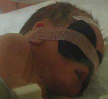 إنقاذ طفل من أنابيب التصريف