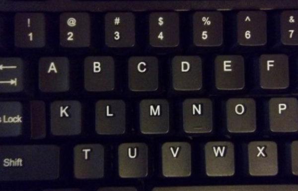 ترتيب لوحة المفاتيح
