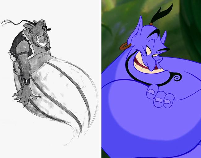 الرسم الأولي لشخصيات ديزني